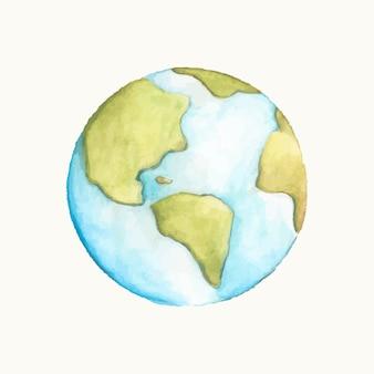 Illustration de la planète terre