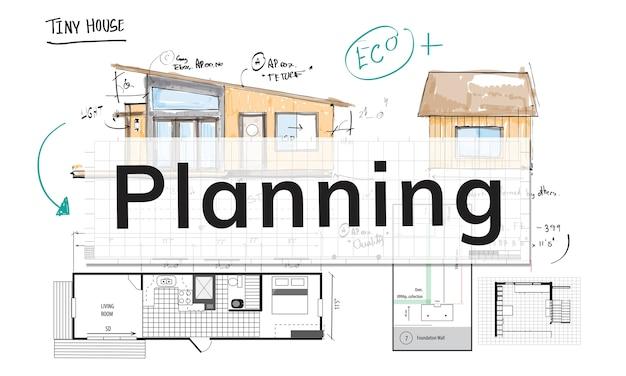Illustration de la planification de la maison