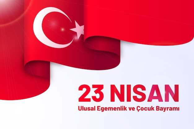 Illustration de plat 23 nisan
