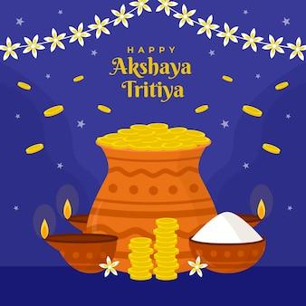 Illustration de plat akshaya tritiya