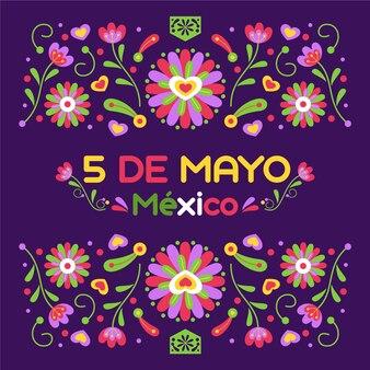 Illustration de plat cinco de mayo