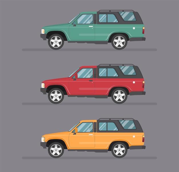 Illustration de plat de conception de transport isolé