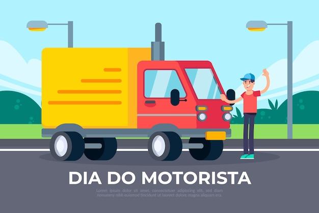 Illustration de plat dia do motorista