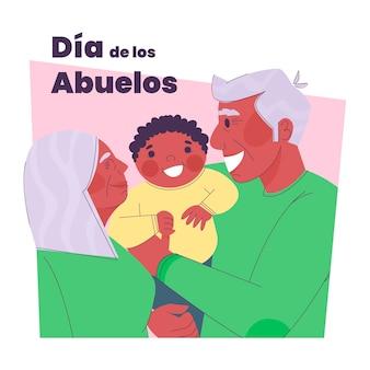 Illustration de plat dia de los abuelos