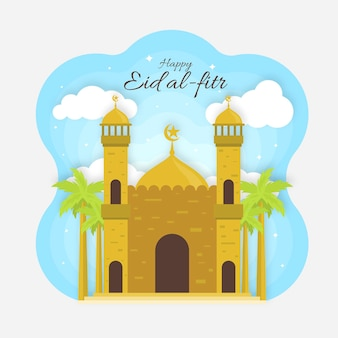 Illustration de plat eid al-fitr