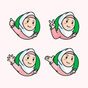 Illustration de plat eid alfitr eid mubarak