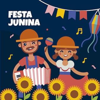Illustration de plat festa junina