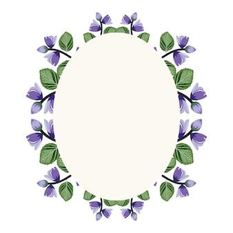 Illustration de plat fleur mignonne couronne floral illustration