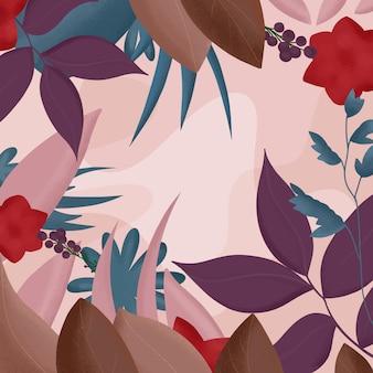 Illustration de plat floral - fond d'automne
