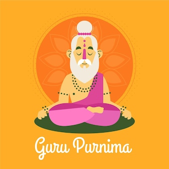 Illustration de plat gourou purnima