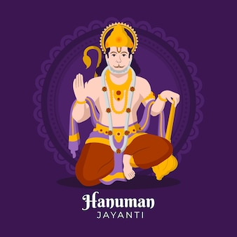 Illustration de plat hanuman jayanti