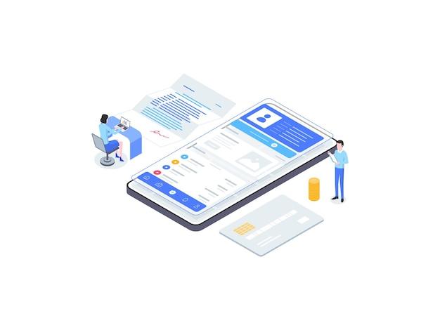 Illustration de plat isométrique d'assurance. convient pour les applications mobiles, les sites web, les bannières, les diagrammes, les infographies et autres éléments graphiques.