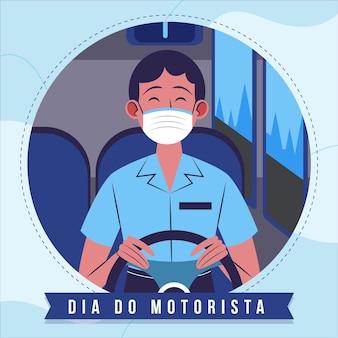 Illustration de plat organique dia do motorista