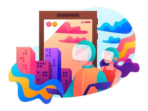 Illustration de plat de transport en ligne