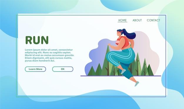 Illustration plate d'activités sportives. concept en cours d'exécution. exercices en plein air
