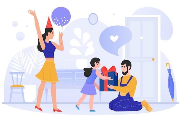 Illustration plate de célébration d'anniversaire
