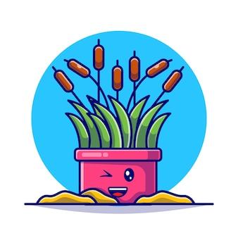 Illustration plate de collection mignonne de plante