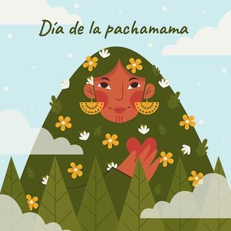 Illustration plate du dia de la pachamama