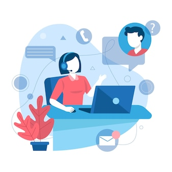 Illustration plate du support client