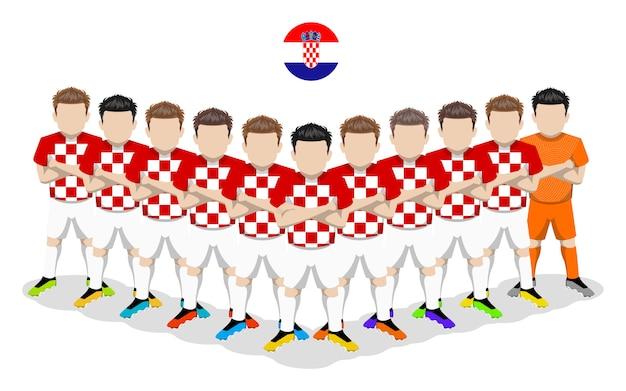 Illustration plate de l'équipe nationale de football de croatie pour la compétition européenne