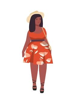 Illustration plate femme grande taille
