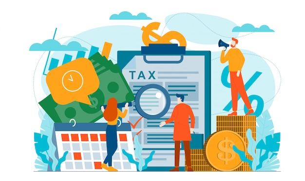 Illustration plate de finances fiscales