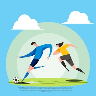 Illustration plate de joueur de football