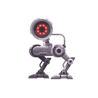 Illustration plate de robot caméra de sécurité