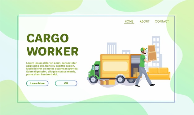 Illustration plate de services commerciaux