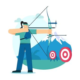 Illustration plate de tir à l'arc