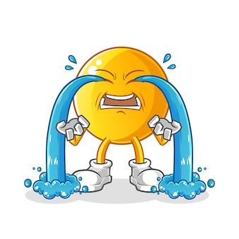 Illustration de pleurer émoticône. personnage