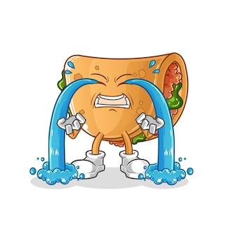Illustration de pleurs de burrito. personnage