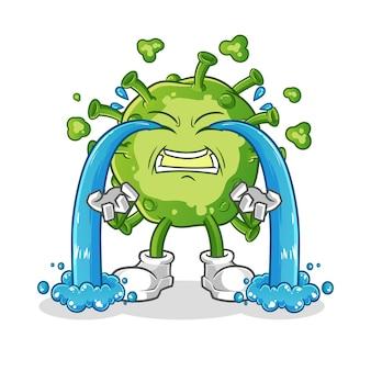 Illustration de pleurs de virus. personnage