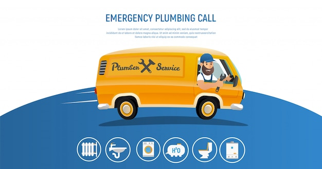 Illustration plombier service