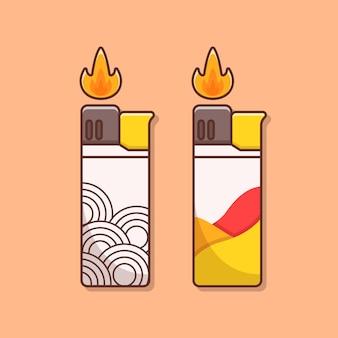 Illustration plus légère au design plat