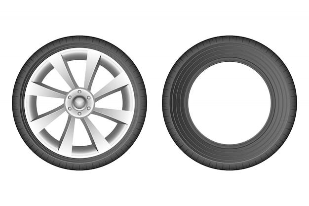 Illustration de pneu de voiture isolé sur fond blanc