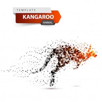 Illustration de point kangourou sur fond blanc.