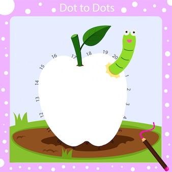 Illustration de points à points pour les enfants