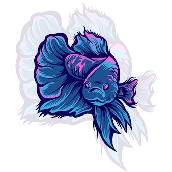 Illustration de poisson betta