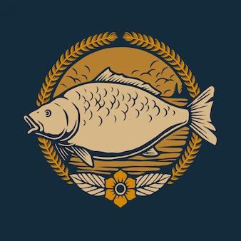 Illustration de poisson carpe