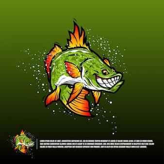 Illustration de poisson en colère