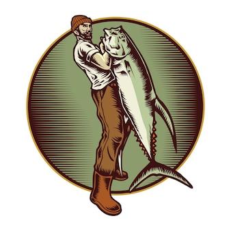 Illustration de poisson pêcheur