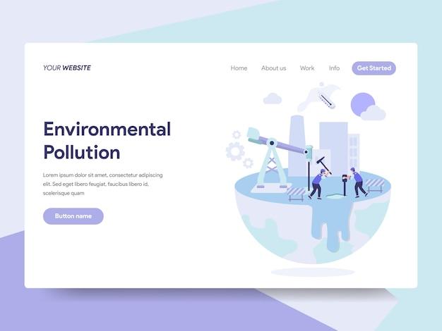 Illustration de la pollution environnementale