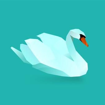 Illustration polygonale du cygne