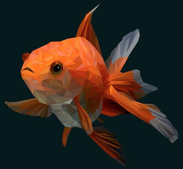 Illustration polygonale du poisson d'or