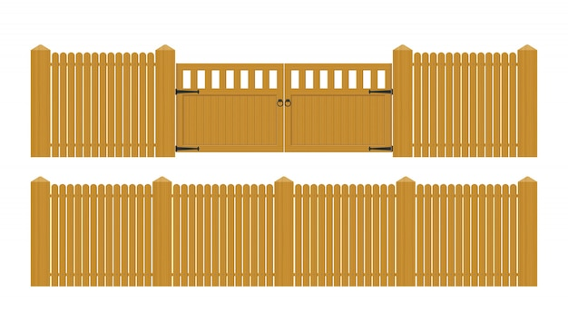 Illustration de porte en bois vintage isolé sur blanc