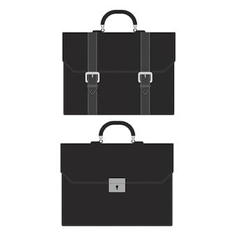 Illustration de porte-documents d'affaires isolé sur blanc