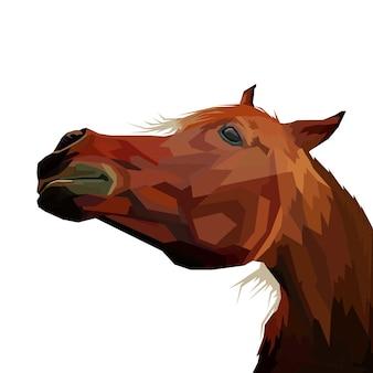 Illustration de portrait de cheval pop art