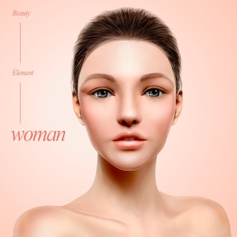 Illustration de portrait de modèle charmant