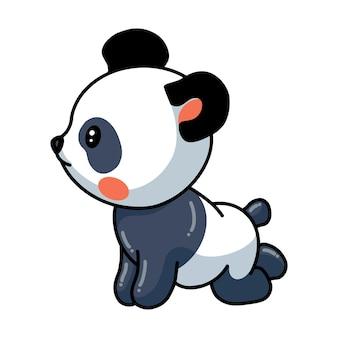 Illustration de la pose de dessin animé mignon petit panda